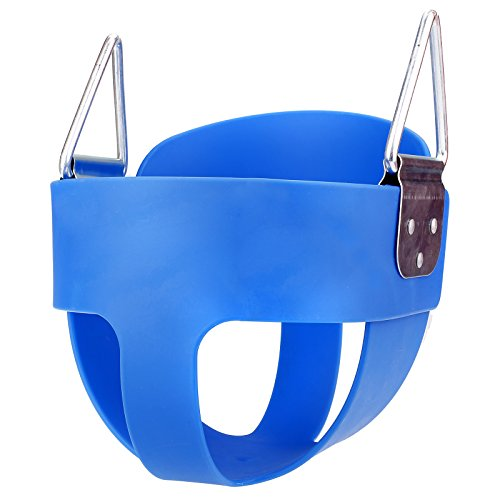 Flyerstoy Toddler Swing Seat, Kids High Back Full Bucket Tree Swing, Outdoor Baby Infant Swing Chair(Swing Chains not Included) (Full Bucket Seat Swing_Blue)