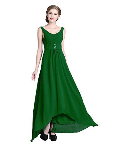 Di Lungo Del Donne Denovelty Promenade Partito Verde Sera Abito Delle Dell'abito Backless Girocollo Maxi XFtw7qF