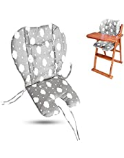 Twoworld High Chair Cushion, Large Thickening Baby High Chair Seat Cushion Liner Mat Pad Cover Breathable Suitable for All Kinds of Baby Dining Chairs (Fashion Gray Clouds)