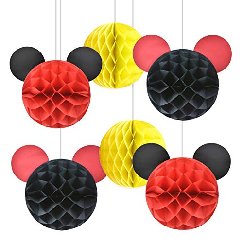 - Mickey Mouse Hanging Honeycomb Balls for Mickey Mouse Party Decorations