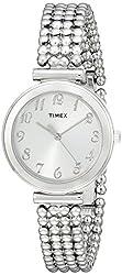 Timex Women's T2P2049J Elevated Classics Dress Silver-Tone Bracelet Watch