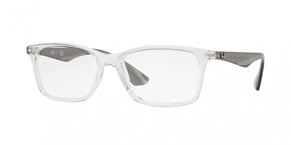RB Mens RX7047 Eyeglasses Trasparent 56mm /& Cleaning Kit Bundle