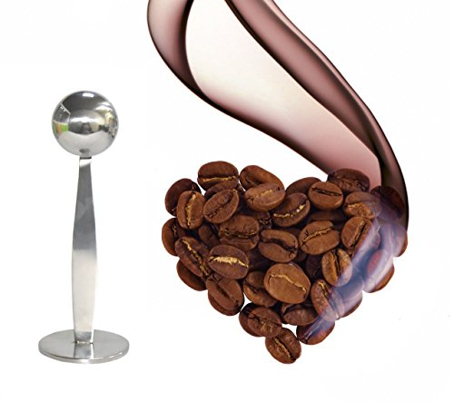 OKCafe Espresso Stand Coffee Measure Tamper Spoon Stainless Steel Coffee & Tea Tools Measuring Tamping Scoop 1 Pieces 15ml Sliever by OKCafe (Image #1)