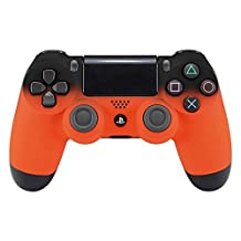 eXtremeRate Shadow Orange Soft Touch Grip Front Housing Shell Faceplate for Playstation 4 PS4 Slim PS4 Pro Controller (CUH-ZCT2 JDM-040 JDM-050 JDM-055)