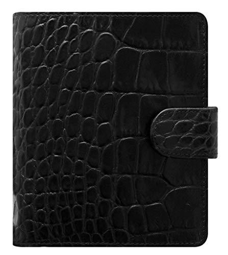 - Filofax Classic Croc Print Leather Organizer Agenda Calendar with DiLoro Jot Pad Refills (Pocket, Ebony Black 2019)