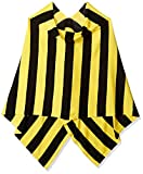 Tickled Pink Game Day Sports Team Apparel Scarf or Wrap - Black & Yellow