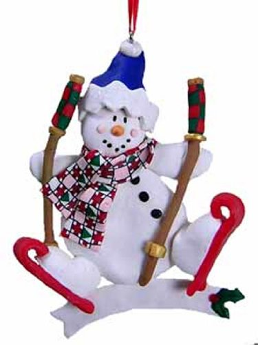 Snowman Ornaments with Blue Stocking Cap [3097371B] (Ornament Northstar)