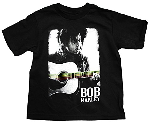 Bob Marley Guitar Poster Toddler T-Shirt, Black, 2T