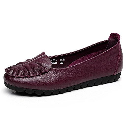 Zapatos de tacón plano/Tamaño de con zapatos de suela suave/Zapatos de mamá/Zapatos de enfermería A
