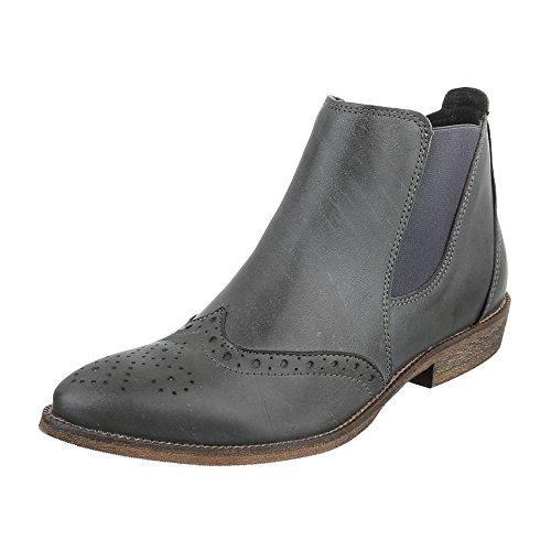 Ital-Design - Botas Chelsea Mujer gris oscuro