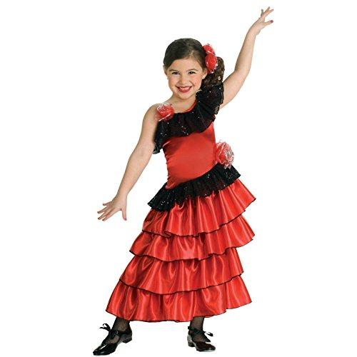 Flamenco Princess Girls Costume - Large (12-14) (Spanish Dancer Kids Costume)