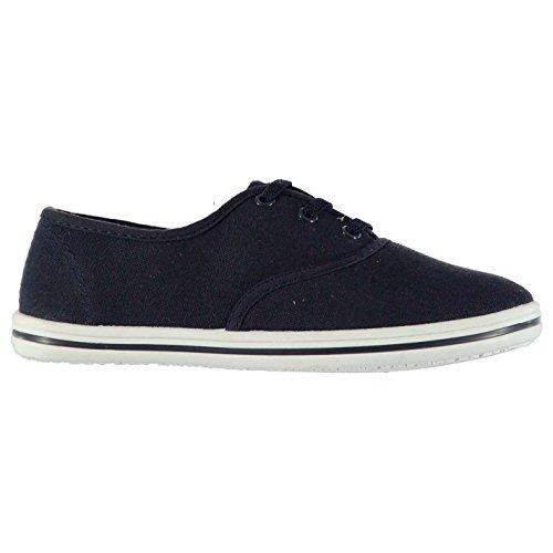 Slazenger Kinder Canvas Schuhe Leicht Sneaker Freizeit Turnschuhe Niedriges Profil Marineblau C10 (28)