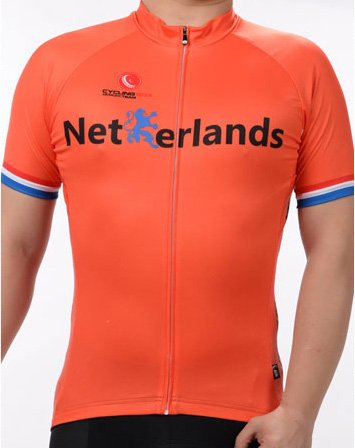 Men's Breathable Short Sleeve Cycling Jersey FIFA World Cup Netherlands Style