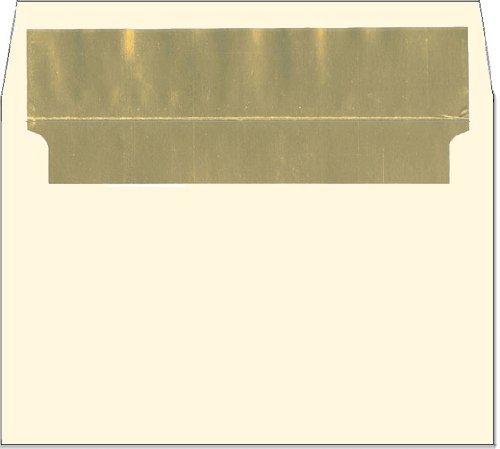 Cream A2 Gold Foil Lined Envelopes - 50 Envelopes - Desktop Publishing Supplies™ Brand Envelopes