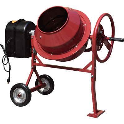Northern Industrial Mini Electric Cement Mixer - 1.77 Cubic Ft, Model# CM125