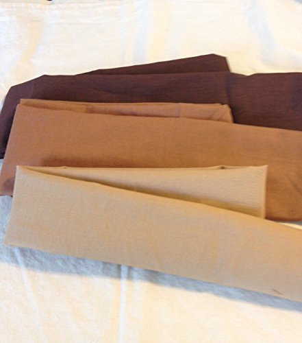 Brown Cotton Fabric Cord Cover Handmade Variety of Shades and Sizes