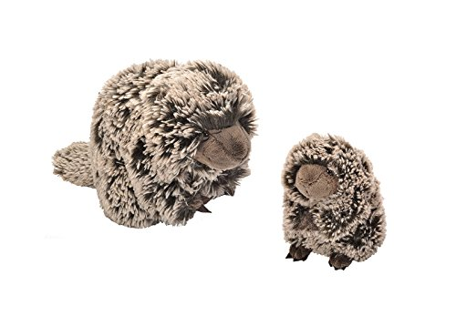 """(Wild Republic Porcupine Cuddle Pack - Includes 1 Adult 12"""" Plush Mama and 1 Baby 8"""" Plush Animal)"""