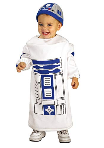 Star Wars Baby Bunting R2D2 Costume, White, 12-24