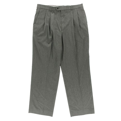 Executive Collection Mens Wool Blend Stretch Dress Pants Gray 38/32 - Executive Collection