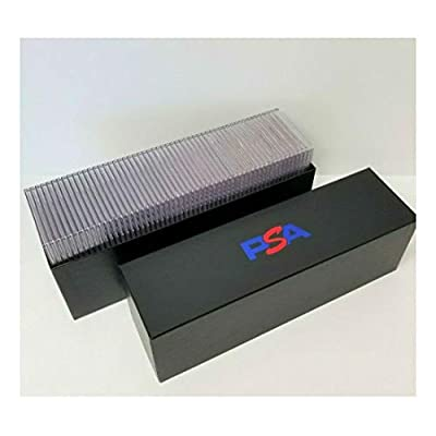 PSA Graded Card Storage Holder Container - Black Box Holds 50-55 Graded Cards: Toys & Games