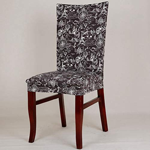 ex Elastic Removable Dining Stretch Chair Cover Flag Floral Pattern Chair Cover Party Hotel Banquet Chair Seat Cover ()