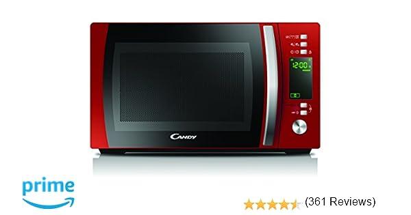 Candy CMXG 20DR, Microondas con Grill y Cook In App, 40 Programas Automáticos, 700 W, 20 L, Color Rojo