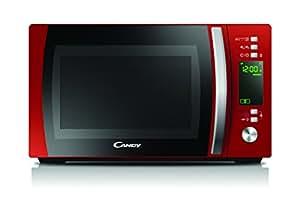 Candy CMXG20DR - Microondas con grill y cook in app, 20 L, 40 programas automáticos, 700 W / 1000 W, color rojo
