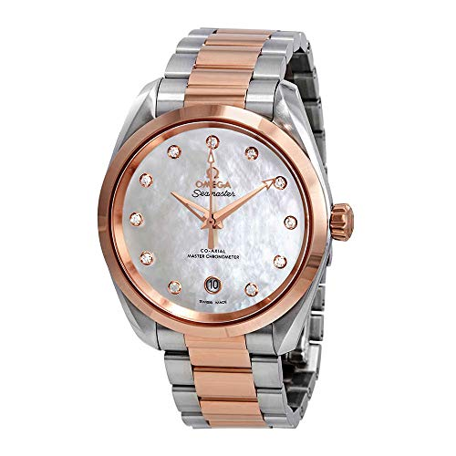 Omega Seamaster Aqua Terra Mother of Pearl Diamond Dial Ladies Watch 220.20.38.20.55.001