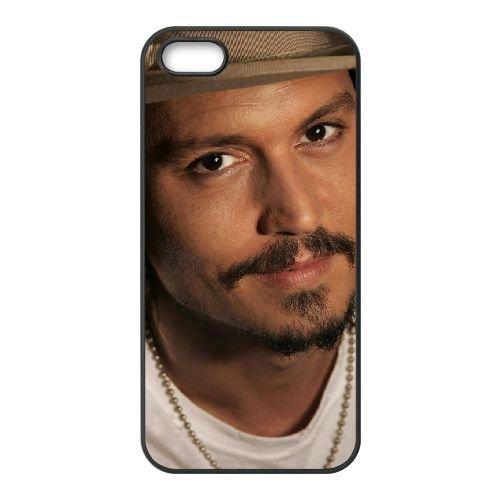 Johnny Depp 005 2 coque iPhone 5 5S cellulaire cas coque de téléphone cas téléphone cellulaire noir couvercle EOKXLLNCD24880