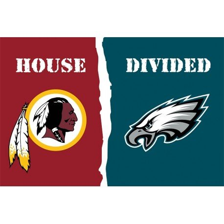Washington Redskins Philadelphia Eagles House Divided 3x5 Flag