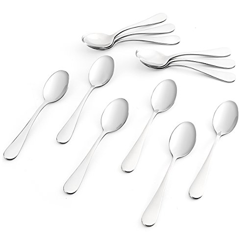 Pattern Cream Soup Bowl (Sweese 3703 Teaspoons, Espresso Spoons, Set of 12 - Heavy-duty Stainless Steel, Restaurant & Hotel Quality, 5.5 inches)