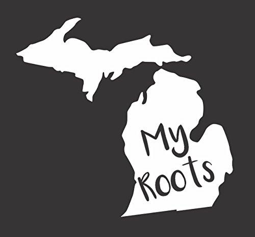 Barking Sand Designs Michigan My Roots - Die Cut Vinyl Window Decal/Sticker for Car/Truck 6