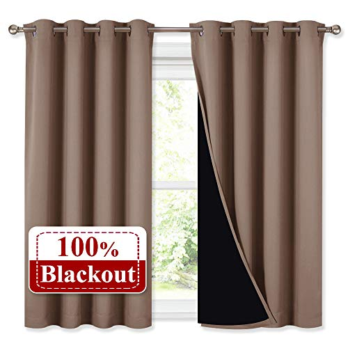 NICETOWN Bedroom Full Blackout Curtain Panels