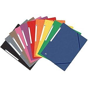 Elba 100200902 Carpeta de Goma, con 3 Solapas, A4, 1 Unidad, Colores Surtidos