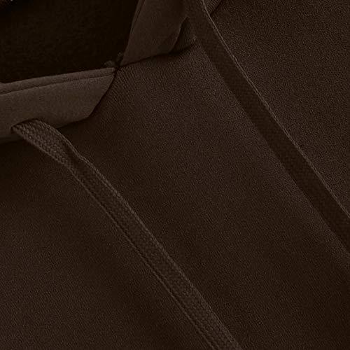 Top Tasche Ragazza E Tumblr Forti Donna Cappuccio Con Tinta Unita Taglie Maniche Moda Pullover Felpe Cappotti Felpa Marrone Tumblr Mambain Invernali Lungo Casual Sweatshirt 5XqATwqx