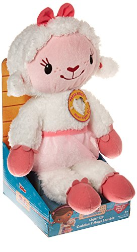 Disney Doc Mcstuffins Light Up Cuddles & Hugs Lambie Plush -