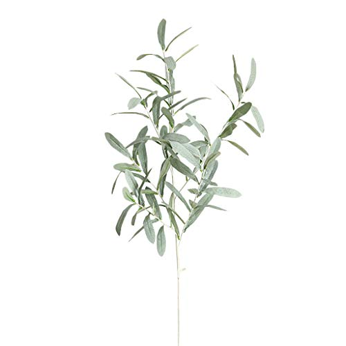 NszzJixo9 Fake Artificial Olive Leaf Green Plant - Branches Garland Party Home Vase Decor Flower Green Plant Eucalyptus Leaf Wedding Decoration (Green)