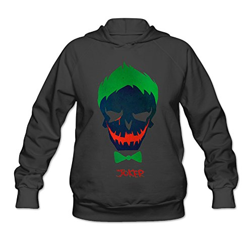Mortal Kombat Costumes Party City (Fennessy Women's Hooded Sweatshirt Little Joker Size XXL Black)