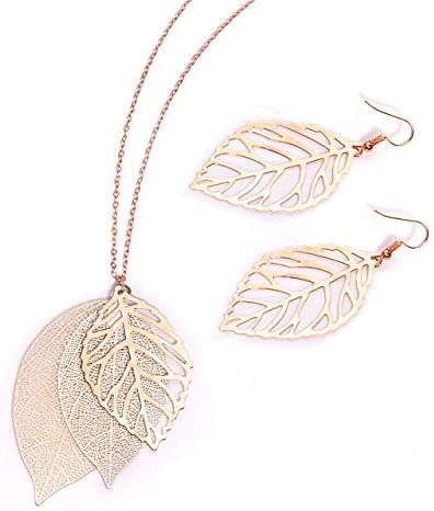 NVENF Necklaces Gold Tone SimpleLeaf Statement product image