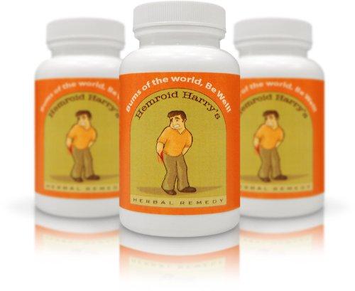 Remède de Hemroid Harry Herbal, Approvisionnement 45 jours - Traitement des hémorroïdes, hémorroïdes Cure, hémorroïdes Relief, Pills hémorroïdes