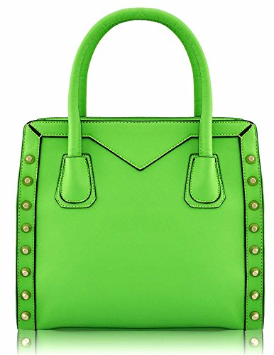 Bag Leather In Womens Celebrity Designer Tote Ladies Design 2 Green Style Faux Handbag Shoulder New Sale 8UBUxqzw
