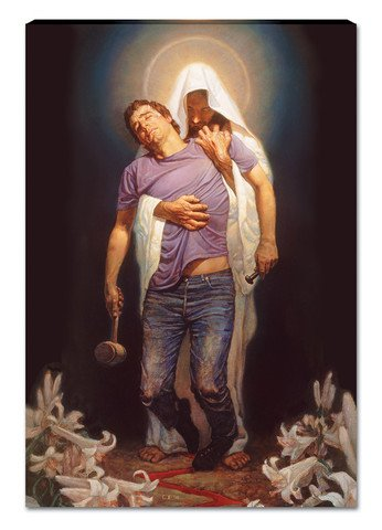 Forgiven Canvas Wall Hanging By Thomas Blackshear (Ships Ready to Hang) (35x18 inches)