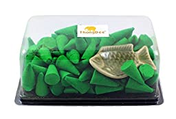 Citronella Incense Cones with Burner Holder Pack of 100 Pieces