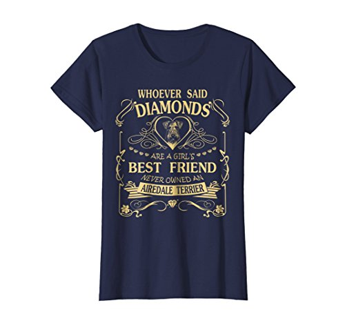 Womens I love my Airedale Terrier than diamond Cute Gift Shirt XL -