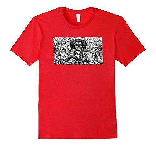 Mens Mexico Day Of The Dead TShirt - Dia De Los Muertos T Shirt Medium (Dia De Los Muertos Men)