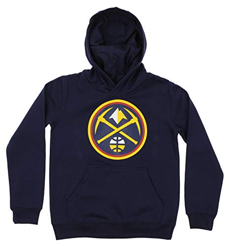 Outerstuff NBA Youth Boy's (8-20) Primary Logo Team Color Fleece Hoodie, Denver Nuggets X-Large(18)