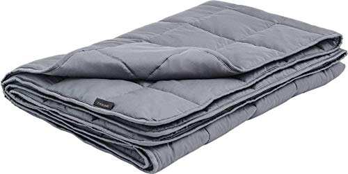LUXOME 100% Bamboo (300tc) Weighted Blanket for Adults with Integrated Cover | 18lbs | Queen Size | 60