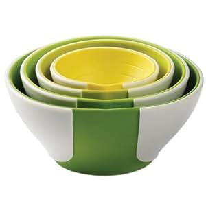 Chef'n SleekStor Pinch+Pour Prep Bowl Set (Green Tonal)