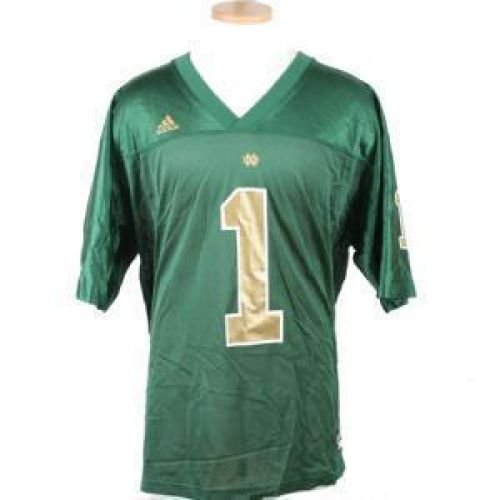 adidas Notre Dame Fighting Irish #1 Green Replica Football Jersey (Adidas Notre Dame Irish Replica Football)
