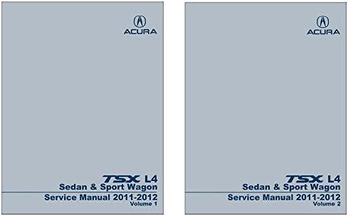 amazon com bishko automotive literature 2011 2012 acura tsx l4 rh amazon com 2012 acura tsx service manual pdf 2010 Acura TSX Manual
